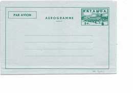 LE 0404. KATANGA. Aérogramme 3 Neuf. TB - Katanga