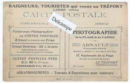 """LE TREPORT - """"ARNAULT"""" Photographe Editeur, 17 Esplanade De La Plage - Publicité Au Verso D'1 Carte Du Carnaval De Nice - Le Treport"""