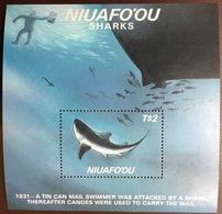 Tonga Niuafo'ou 1987 Sharks Minisheet MNH - Poissons
