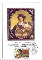 CELEBRAZIONI COLOMBIANE   1991 MAXIMUM POST CARD (GENN200248) - Esposizioni Filateliche