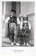FOTOGRAFIA DE UN NIÑO Y UNA NIÑA DISFRAZADOS. COSTUME. CHILDREN. CARTA POSTAL. 1933. - NTVG. - Fotografía
