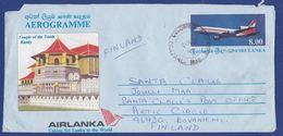 Aerogramme 1992 An Den Santa Claus In Finnland (br8328) - Sri Lanka (Ceylon) (1948-...)