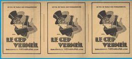 LE CEP VERMEIL ETS V. BERARD & FILS LYON LE VIN DE TABLE DES CONNAISSEURS  / COMPAGNIE DU GAZ DE LYON 1931 - Publicités