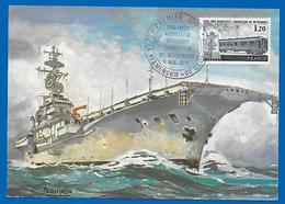 11 Novembre 1978 - Porte Avions CLEMENCEAU - 1er Jour Armistice 1918-1978 (4660) - Poste Navale