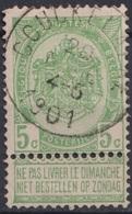 """156-  COB/OBP 56 (o) """"COUCKELAERE"""" +30 - 1893-1900 Schmaler Bart"""