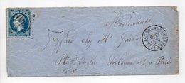 - Lettre LES GRANDES-VENTES (Seine-Maritime) Pour PARIS 23 MARS 1866 - 20 C. Napoléon III Oblitéré Losange GC 1700 - - Marcofilie (Brieven)