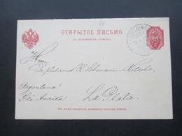 Russland / Finnland 1903 Ganzsache P 34 Doppelkarte Stempel Littoinen Nach Argentinien!! Seltene Destination! RRR - Storia Postale