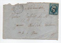 - Lettre LES GRANDES-VENTES (Seine-Maritime) Pour PARIS 16 AVRIL 1867 - 20 C. Napoléon III Oblitéré Losange GC 1700 - - Storia Postale