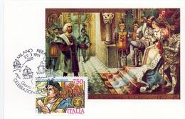 CELEBRAZIONI COLOMBIANE 1991 MAXIMUM POST CARD (GENN200251) - Esposizioni Filateliche