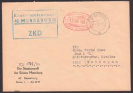 Merseburg Germany ZKD-Brief Kreisstaatsanwalt Nach Schkopau 1966, Chemische Werke Buna - DDR