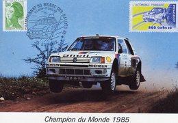 Peugeot 205 T16  -  Champion Du Monde 1985  -  Pilotes: Salonen/Harjanne  -  Carte Postale - Rallyes