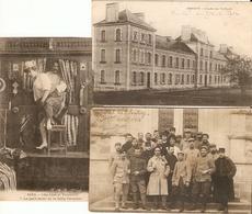 Lot De 3 Cpa De 14-18, Hôpital Temporaire N°60 De Pontivy (56), Carte-photo De 1916 + Cachet - Guerre 1914-18
