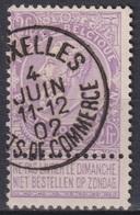 """162-  COB/OBP 67 (o) """"BRUXELLES EFFETS DE COMMERCE"""" +1 - 1893-1900 Schmaler Bart"""