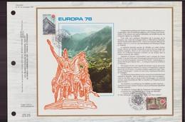 "Andorre Document De La Poste Du 29 Avril 1978 "" Europa 78 "" - Andorre Français"