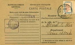 Carte De Ravitaillement, Mairie De LES BORDES ( Loiret) - Cachet à Date Du ?? 1946 - Marcophilie (Lettres)