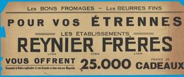 LES BONS FROMAGES BEURRES FINS POUR VOS ETRENNES ETS REYNIER FRERES 4 RUE GRENETTE LYON  / COMPAGNIE DU GAZ DE LYON 1932 - Publicités