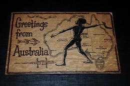 9611          GREETINGS FROM AUSTRALIA, AUSTRALIAN BOOMERANGS / WOODEN CARD - Non Classificati