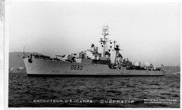 Marine Francaise  -  ''Guépratte''  -  Escorteur D'Escadre  -  Marius Bar  Carte Postale - Warships