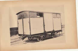 Planche Train Chemins De Fer Wagon à Bestiaux Pour Ligne Du Tessin Italie Par Baume Et Marpent Haine Saint Pierre - Ferrocarril