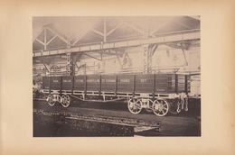 Planche Train Chemins De Fer Wagon Système Goodfellow Cushman Par Baume Et Marpent Haine Saint Pierre - Spoorweg