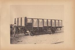 Planche Train Chemins De Fer Wagon Pour Auxilliaire Des CDF Allemagne Par Baume Et Marpent Haine Saint Pierre - Spoorweg