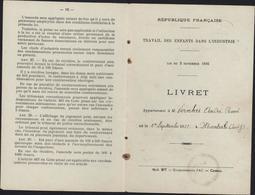 1936 Livret Travail Des Enfants Dans L'industrie Montauban France Apprenti Mécanicien Sans Couverture - Old Paper