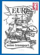 24 Mars 1990 - Congrès Marcophilie Navale à Lyon - Carte Aviso Transport EURE (4665) - Poste Navale
