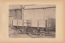 Planche Train Chemins De Fer Wagon Pour SNCV Tram Tramways Par Baume Et Marpent Haine Saint Pierre - Chemin De Fer