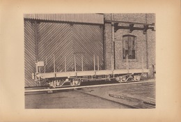 Planche Train Chemins De Fer Wagon Pour Le Congo Par Baume Et Marpent Haine Saint Pierre - Spoorweg