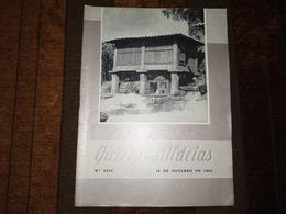 """Revista, Magazine Portuguese - Gazeta Das Aldeias """"Capa - Espigueiro De Tipo Largo, Piscos, Braga"""" Nº 2553 De 16-10-1965 - Revues & Journaux"""