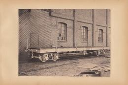 Planche Train Chemins De Fer Wagon Plat Pour Cdf Du Brésil  Par Baume Et Marpent Haine Saint Pierre - Spoorweg