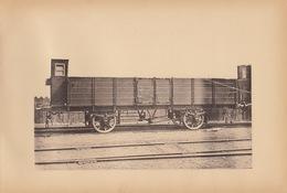 Planche Train Chemins De Fer Wagon Cdf Bavarois Bavière Allemagne Par Baume Et Marpent Haine Saint Pierre - Spoorweg