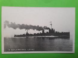 Cartolina - R. Esploratore Leone - Marina Militare - 1930 Ca. - Militari