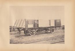 Planche Train Chemins De Fer Wagon Cdf De Louis De Hesse Allemagne Par Baume Et Marpent Haine Saint Pierre - Spoorweg