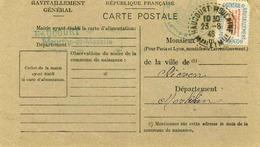 Carte De Ravitaillement, Mairie De  HAUCOURT ( Meurthe Et Moselle)  - Cachet à Date Du 23 Août 1946 - Marcophilie (Lettres)