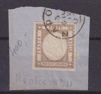 ITALIE : NAPLES . N° 11 . OBL . TB . SUR FGT . 1861 . - Napoli
