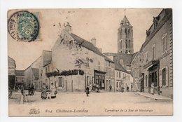 - CPA CHÂTEAU-LANDON (45) - Carrefour De La Rue De Montargis 1907 (avec Personnages) - - Frankrijk