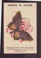 """Carte Baromètre Artistique """" Papillon Et Fleur """" - Old Paper"""