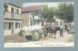 Espagne Fuenterrabia Carro Con Buyes Attelage Boeuf  ( Plis Dans Un Angle )  Maca0466 - Espagne
