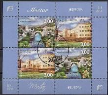 2012 BOSNA AND HERZEGOVINA-HERZEGBOSNA MOSTAR (CROAT )  Mi. Bl. 26  Used Europa VISITA - 2012