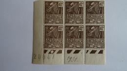 FRANCE - COINS DATES - 271 Yvert 1930-31 Expo Coloniale Internationale De Paris 1931 X6 Femme De Fachi Cote 36€ MNH++ - 1940-1949