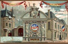 CHROMO CHICOREE ARLATTE CAMBRAI AUTREFOIS AUJOURD'HUI PARIS ARCHIVES NATIONALES - Chromos