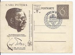 Dt- Reich (001290) Ganzsache P 286/06 Carl Peters Blanco Gestempelt Mit SST Berlin Zur 6. Reichsstrrassensammlung - Deutschland