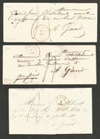 Belgique - 2 Enveloppes Et 1 LAC De Mons à Gand De 1840-1849 - 1830-1849 (Onafhankelijk België)