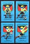 ANTIGUA  N° 1289/92   * *  SURCHARGE   ( Cote 7e )   Cup 1990  Football Soccer Fussball - 1990 – Italië