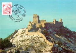 ASSISI LA ROCCA MAGGIORE  1991 MAXIMUM POST CARD (GENN200256) - Esposizioni Filateliche
