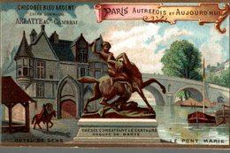 CHROMO CHICOREE ARLATTE CAMBRAI AUTREFOIS AUJOURD'HUI PARIS HOTEL DE SENS - Kaufmanns- Und Zigarettenbilder