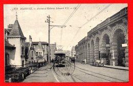 64. Biarritz. Avenue Et Galeries Edouard VII. Tramway ( Pub Savon Sunlight). Voiture Et Calèche. 1922 - Biarritz