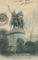 Charlemagne . Mort à Aix La Chapelle Aachen . . Statue à Paris . Roi Des Francs - Politieke En Militaire Mannen
