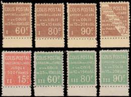 FRANCE Colis Postaux * - Spink 28A/H, Série Complète De 8 Valeurs, Non émises, Tous Bdf: Tarifs Du 24 Février 1924 - Cot - Paquetes Postales